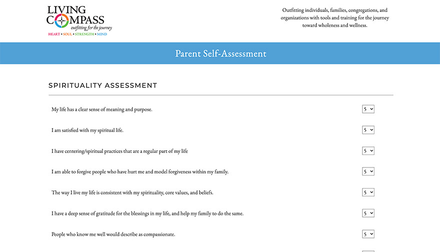 Living Compass Parent Spiritual Assessment