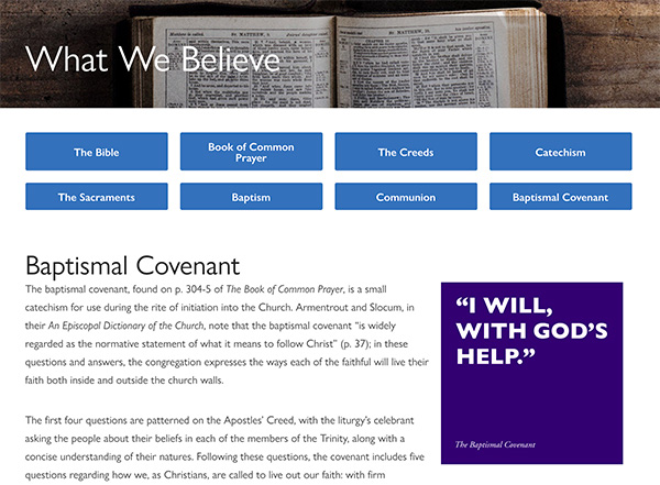 The Baptisimal Covenant